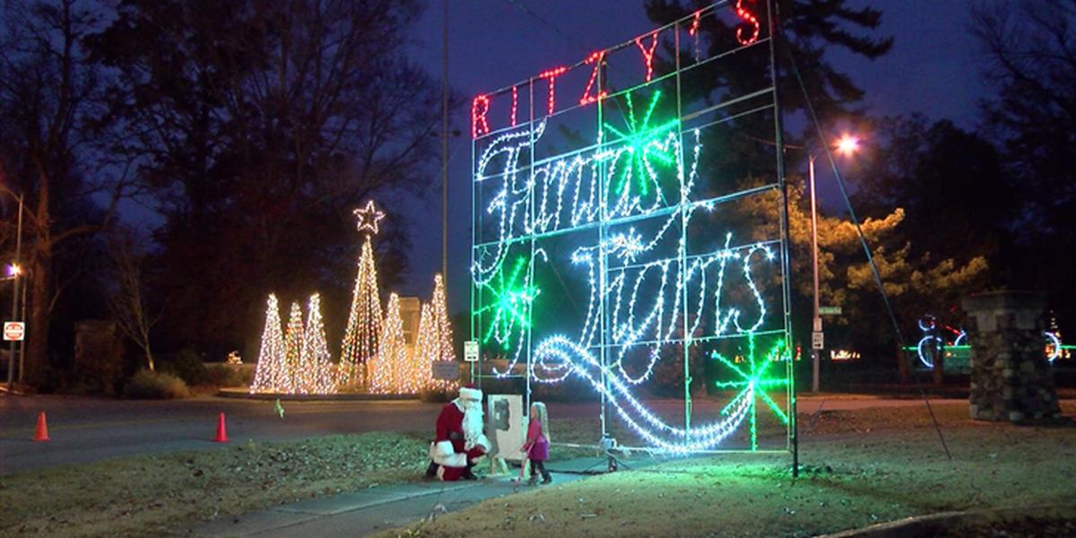 Setup begins for Ritzy's Fantasy of Lights