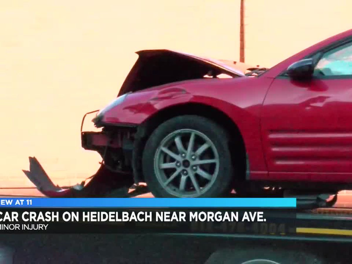 1 person injured after crash on Heidelbach near Morgan Ave.
