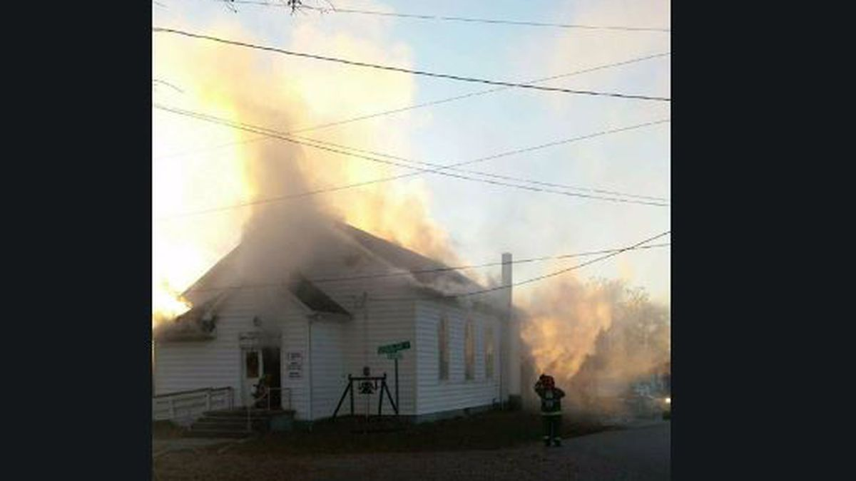 Crews called to fire at Warrick Co. church