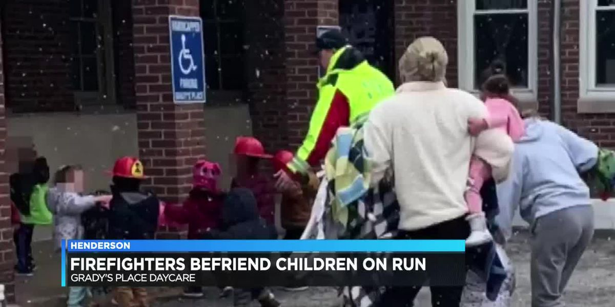 Henderson firefighters befriend children while responding to alarm at daycare