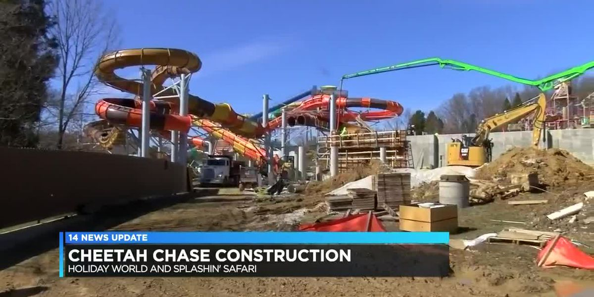 Construction on Holiday World's Cheetah Chase continues