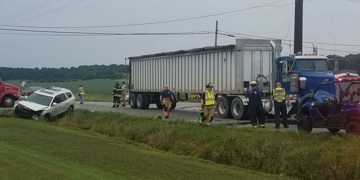 Semi leaking fuel after Vanderburgh Co. crash; intersectionclosed