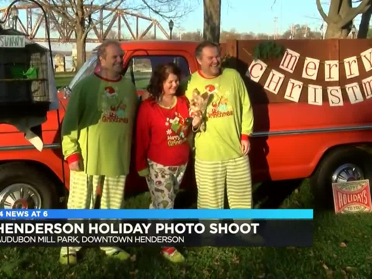 Christmas card photo op at Audubon Mill Park