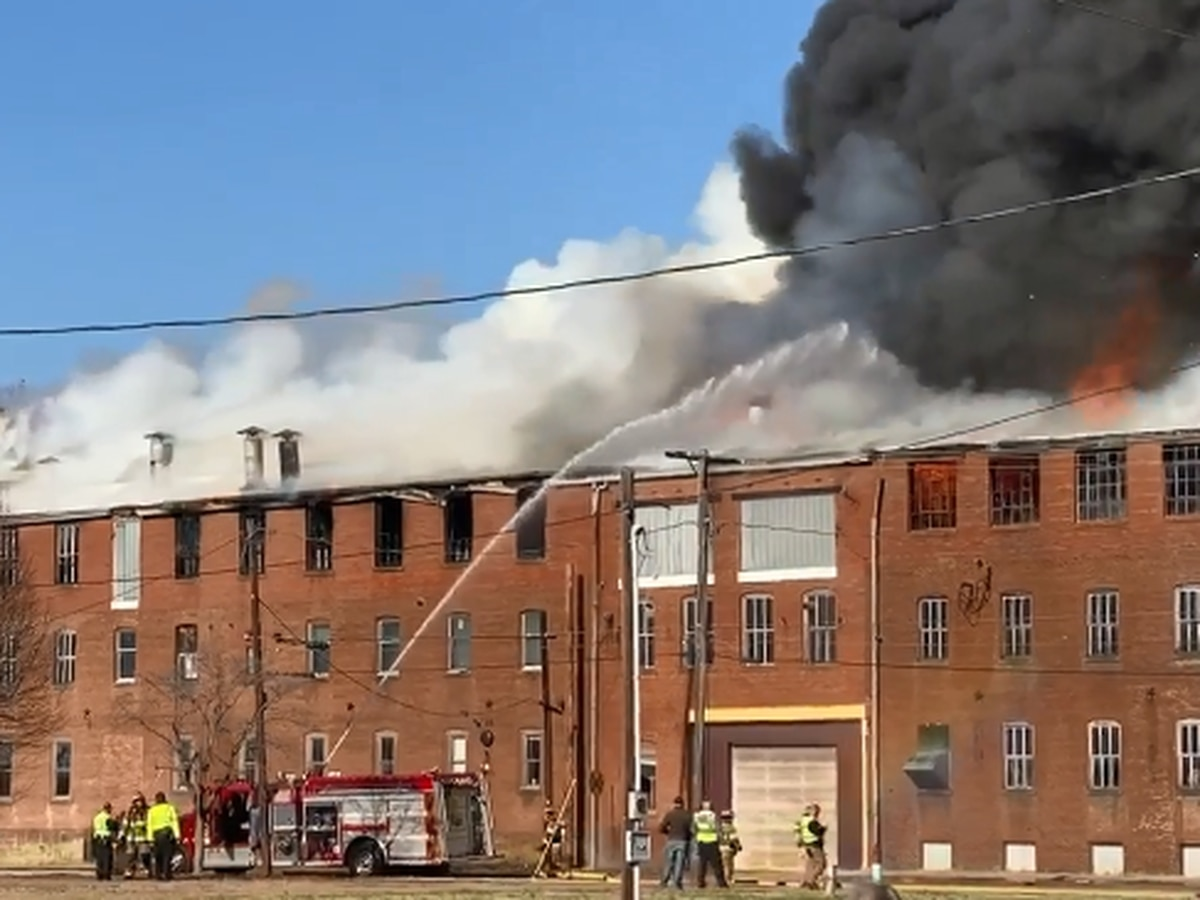 Crews respond to large fire at old Swiss Plywood building in Tell City