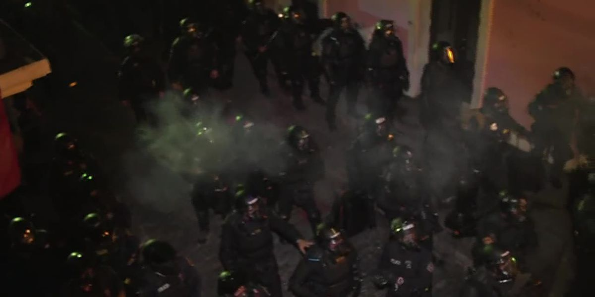 Police fire tear gas at protesters in Puerto Rico