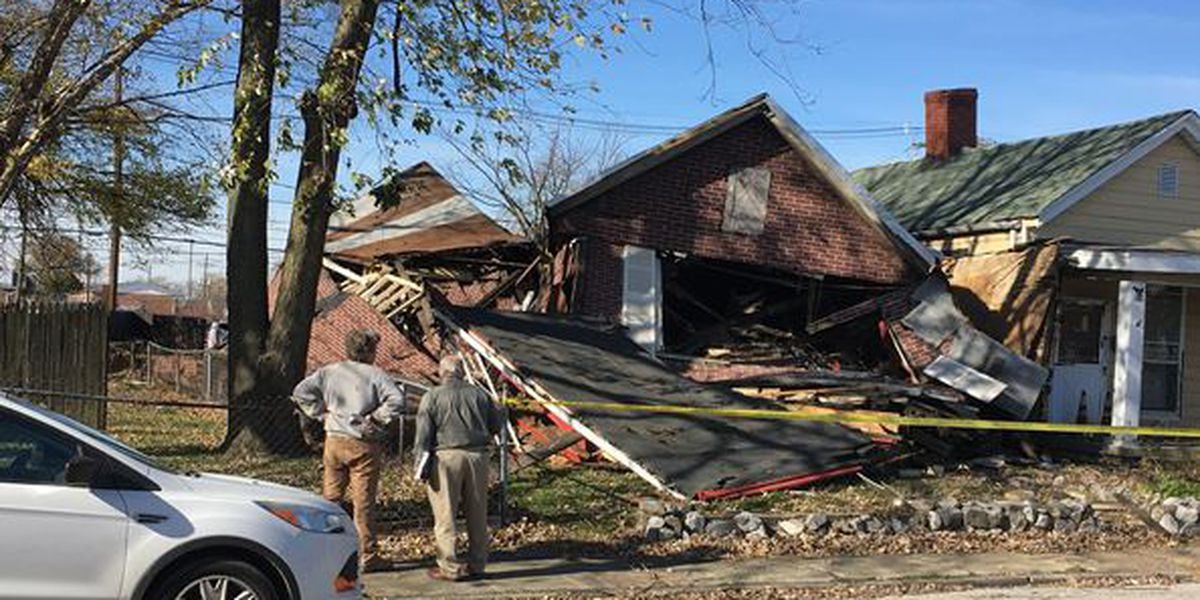 House collapses in Evansville