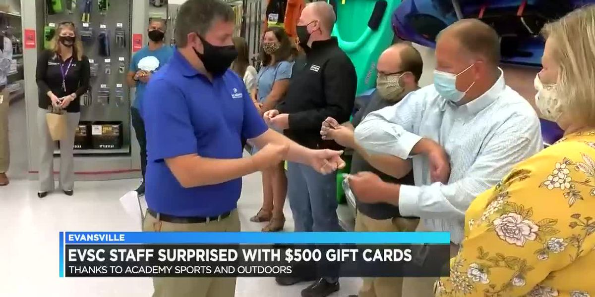 EVSC staff surprised with $500 gift cards for their outstanding work