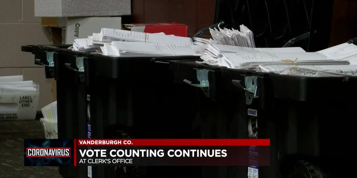 Counting continues at clerk's office in Vanderburgh Co.