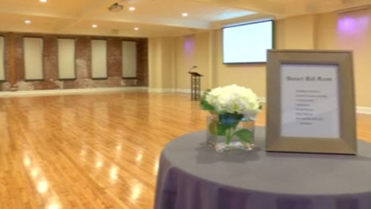 100 yr. old building renovated for new event space