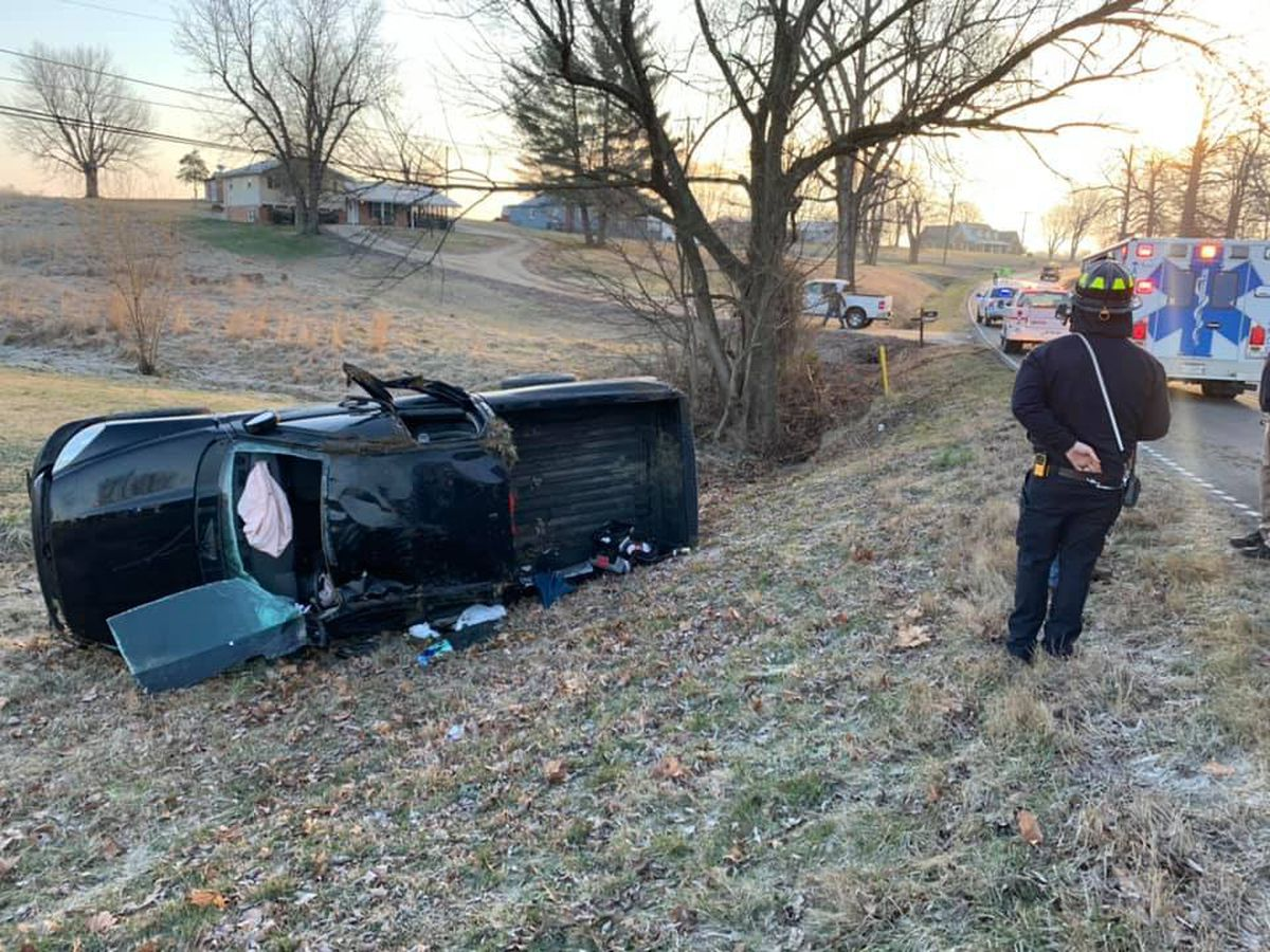 Driver sent to hospital after rollover crash