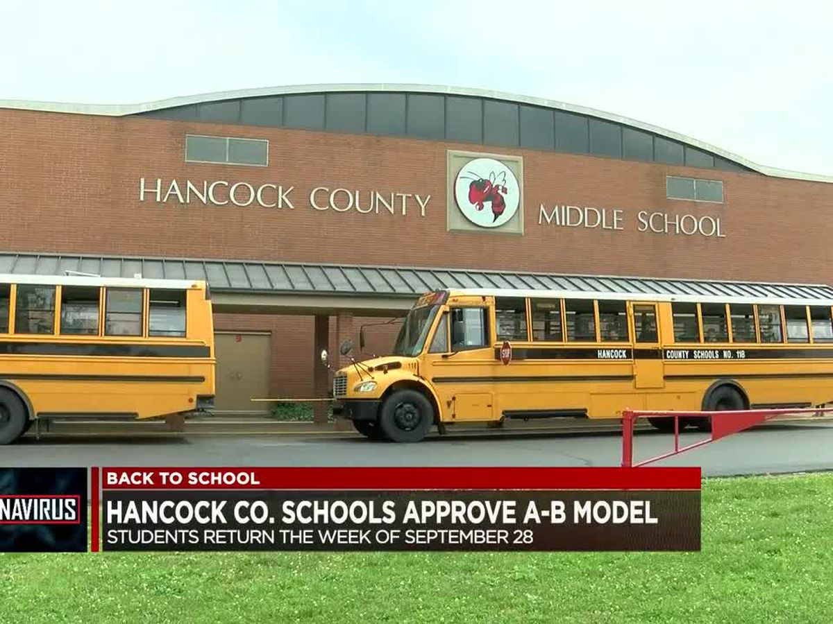 Hancock Co. Schools approve A-B model for students to return week of Sept. 28