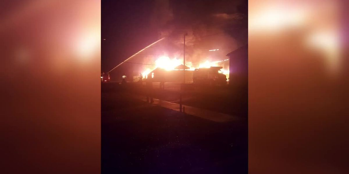 Webster Co. Warehouse Goes Up In Flames In Overnight