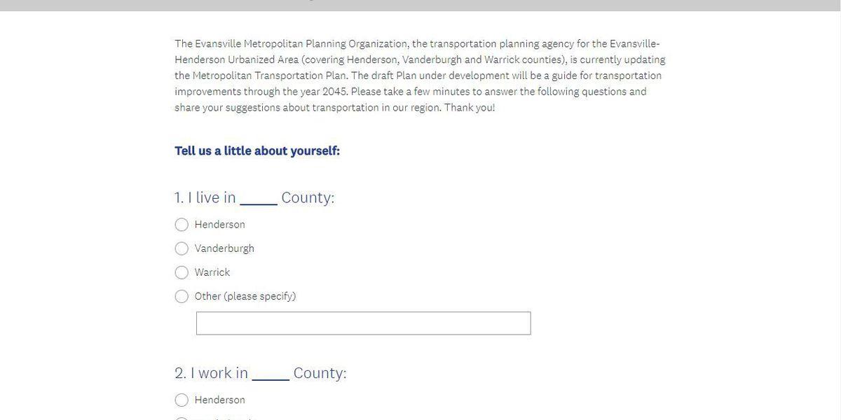Evansville Metropolitan Planning Organization working on 2045 Transportation Plan