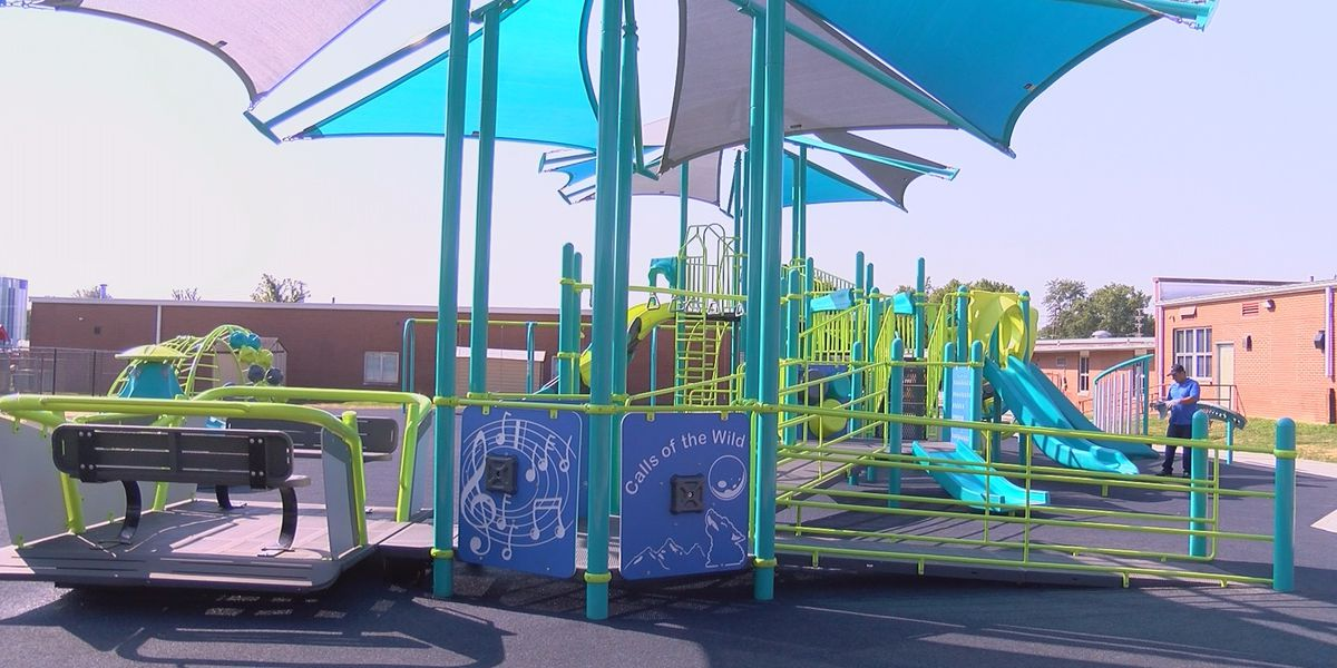 New inclusive playground allows Foust students to play together