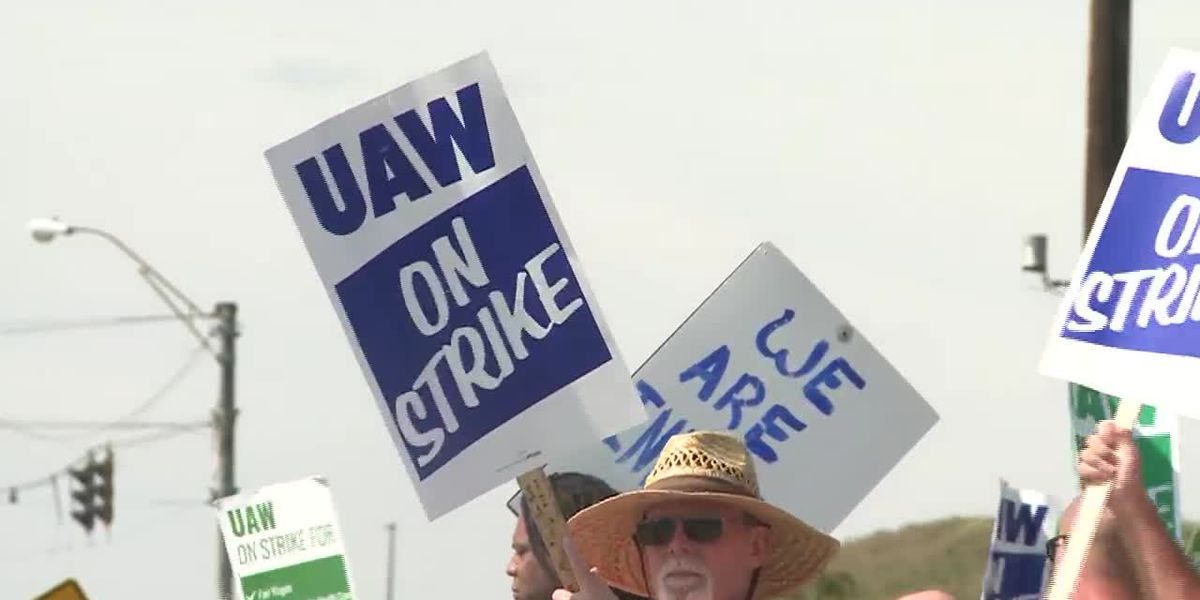 Striking auto workers are concerned but optimistic