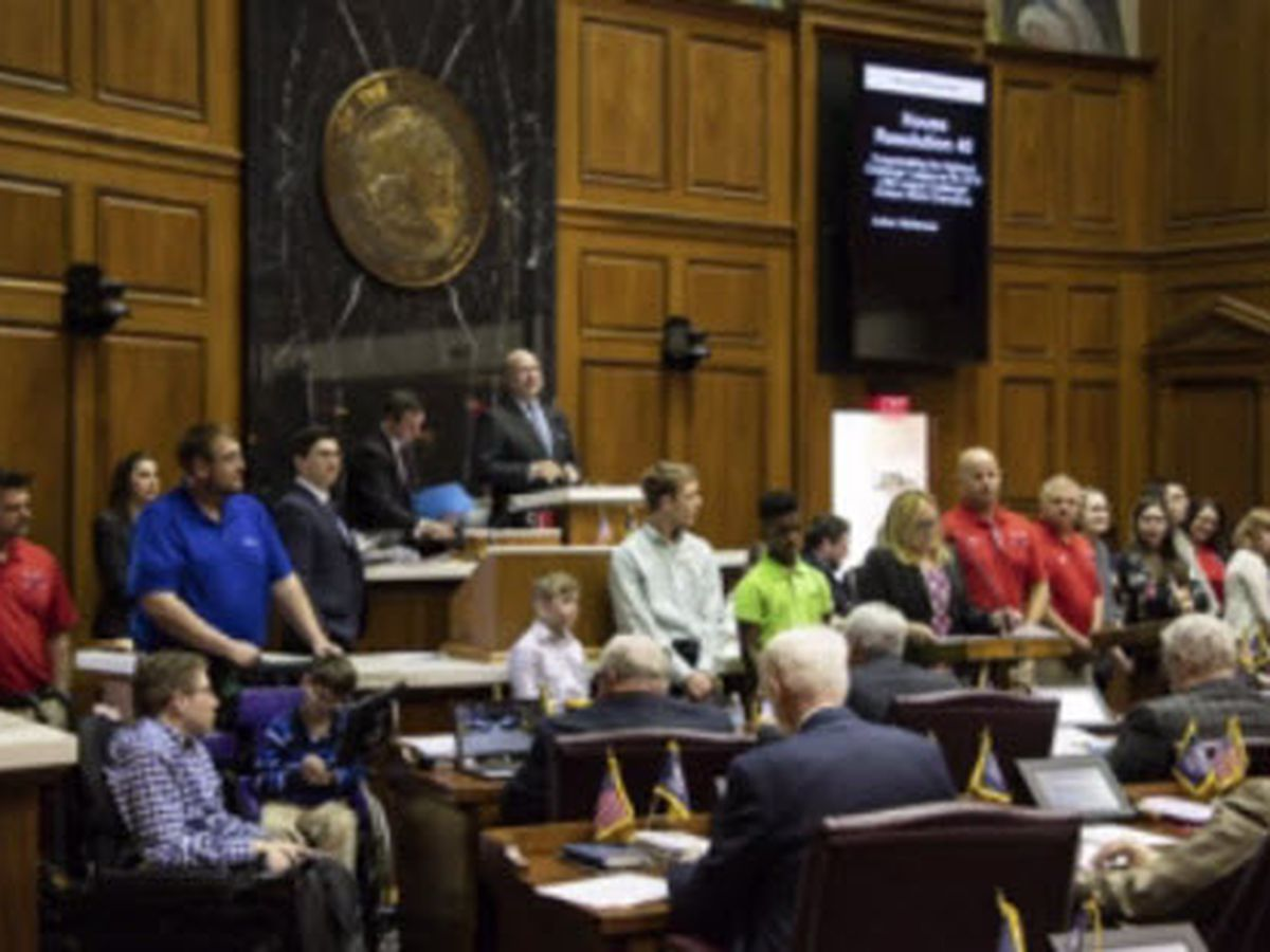 Highland baseball champions honored at Statehouse