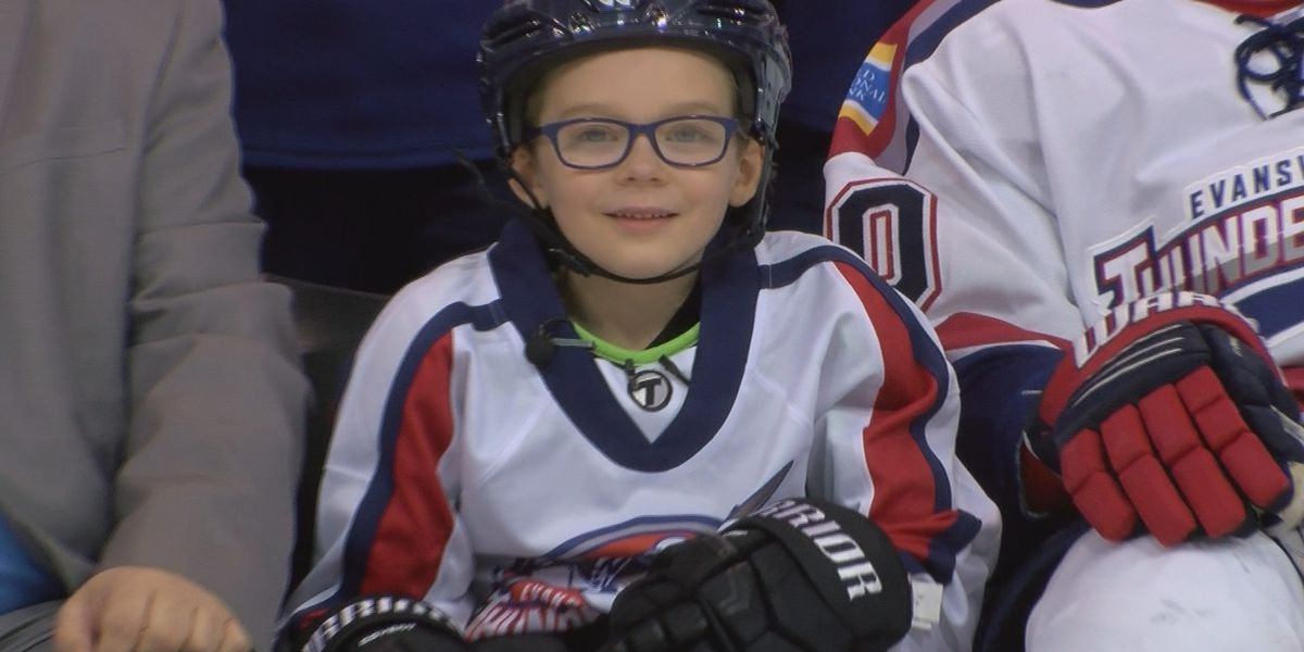 Evansville Thunderbolts sign 7-year-old fan