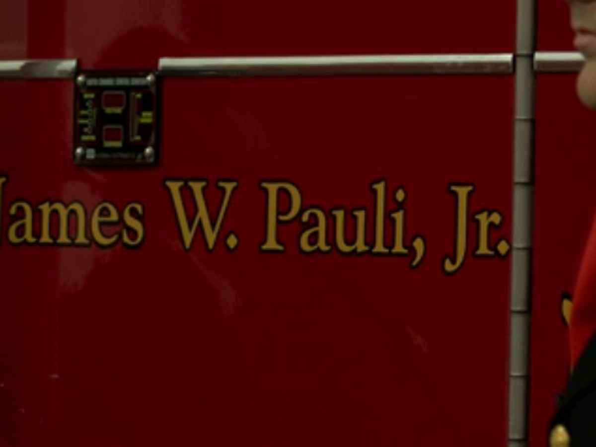 EFD dedicates newest truck to Captain James Pauli Junior