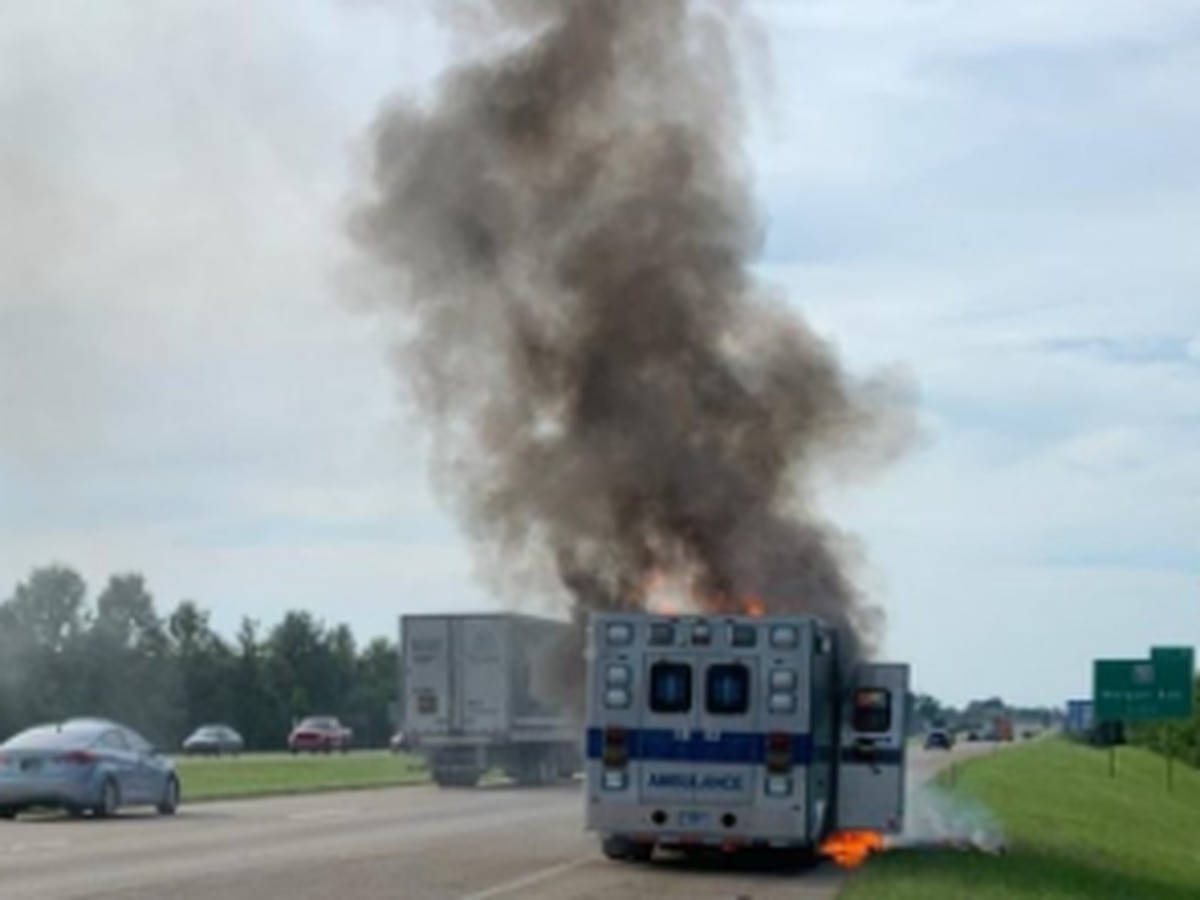 Traffic Alert: NB I-69 closed due to ambulance on fire