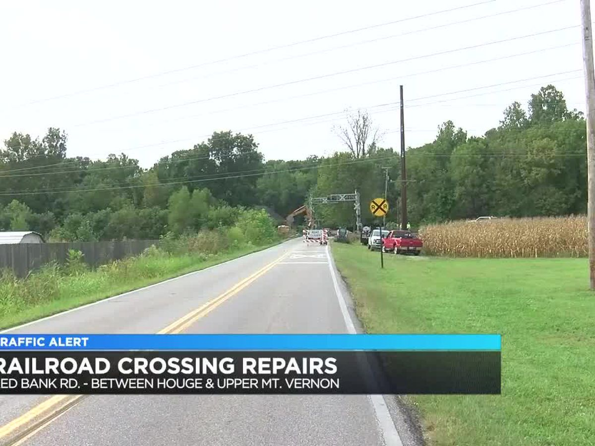 Traffic Alert: Part of Red Bank Rd. closed due to railroad crossing repairs