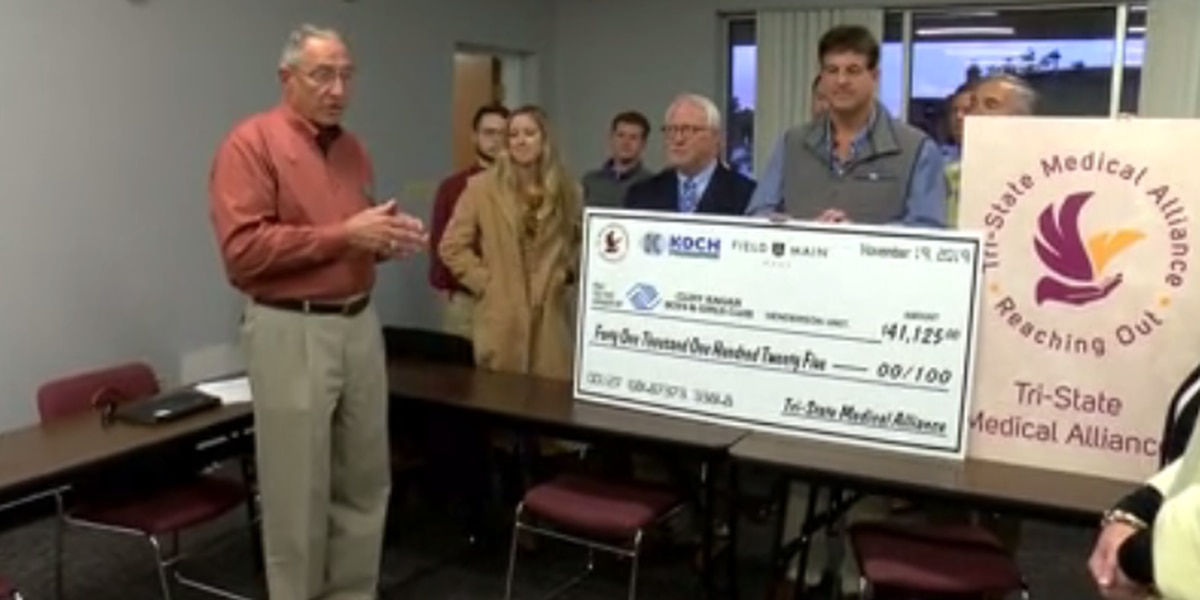 Henderson Boys and Girls Club receives over $41K from Tri-State Medical Alliance