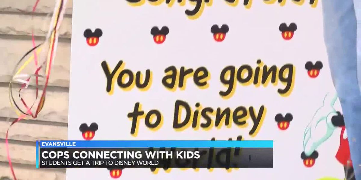 Cops Connecting with Kids surprises middle schoolers with trip to Disney World
