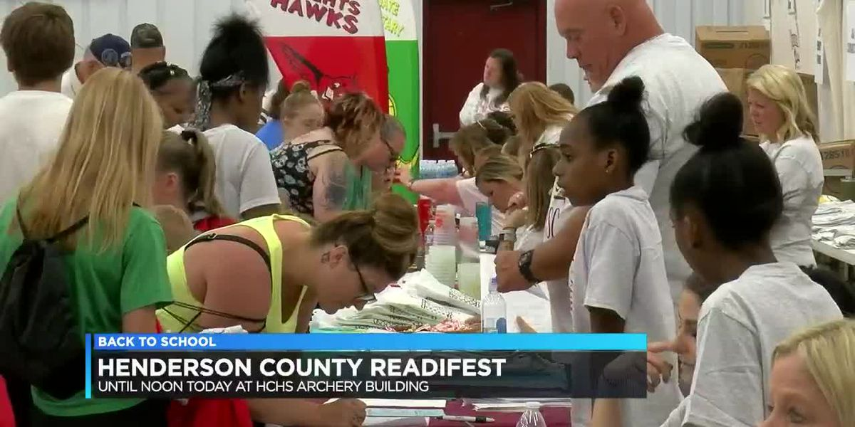 Henderson holds 'Redifest' back to school event