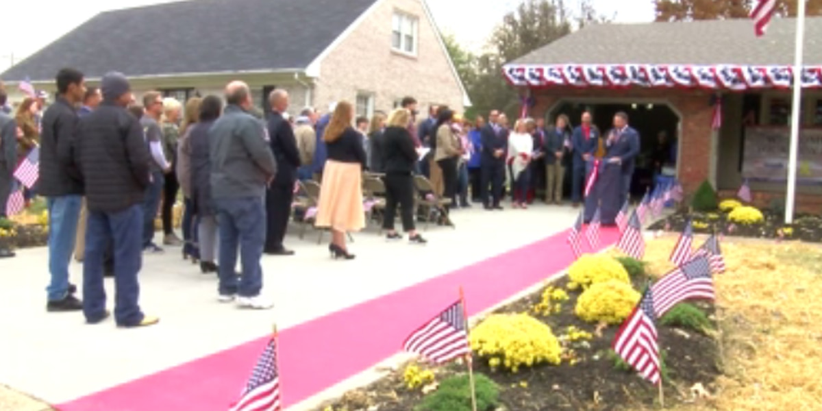Military family is given newly renovated home on Veteran's Day