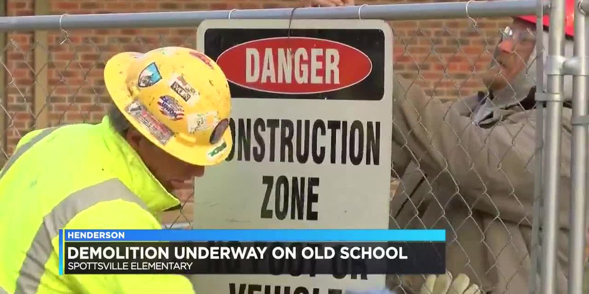 Demolition underway on old Spottsville school