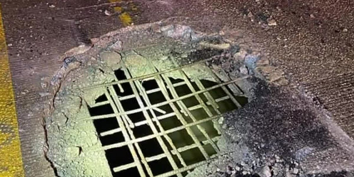 Traffic Alert: Big pothole on southbound Hwy 41 in Princeton