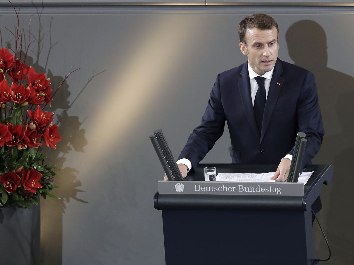The Latest: Macron addresses Germany's parliament