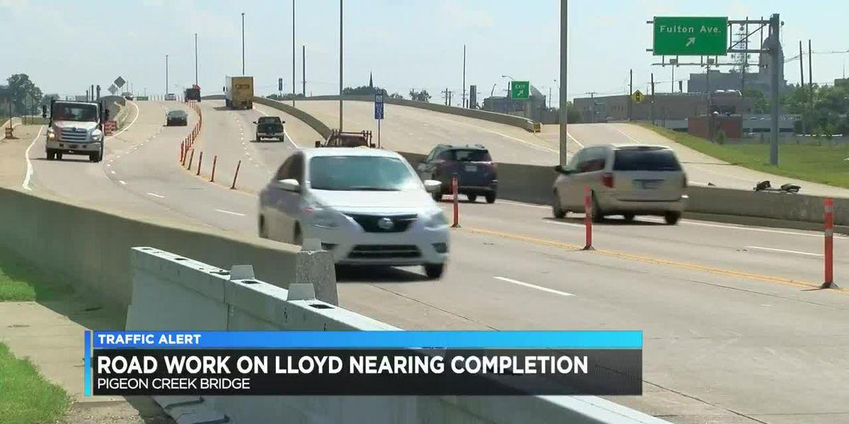 Lloyd Expressway over Pigeon Creek to open next week
