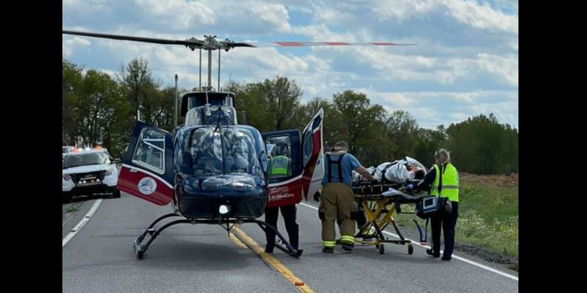 Man flown from scene of rollover crash in Union Co.