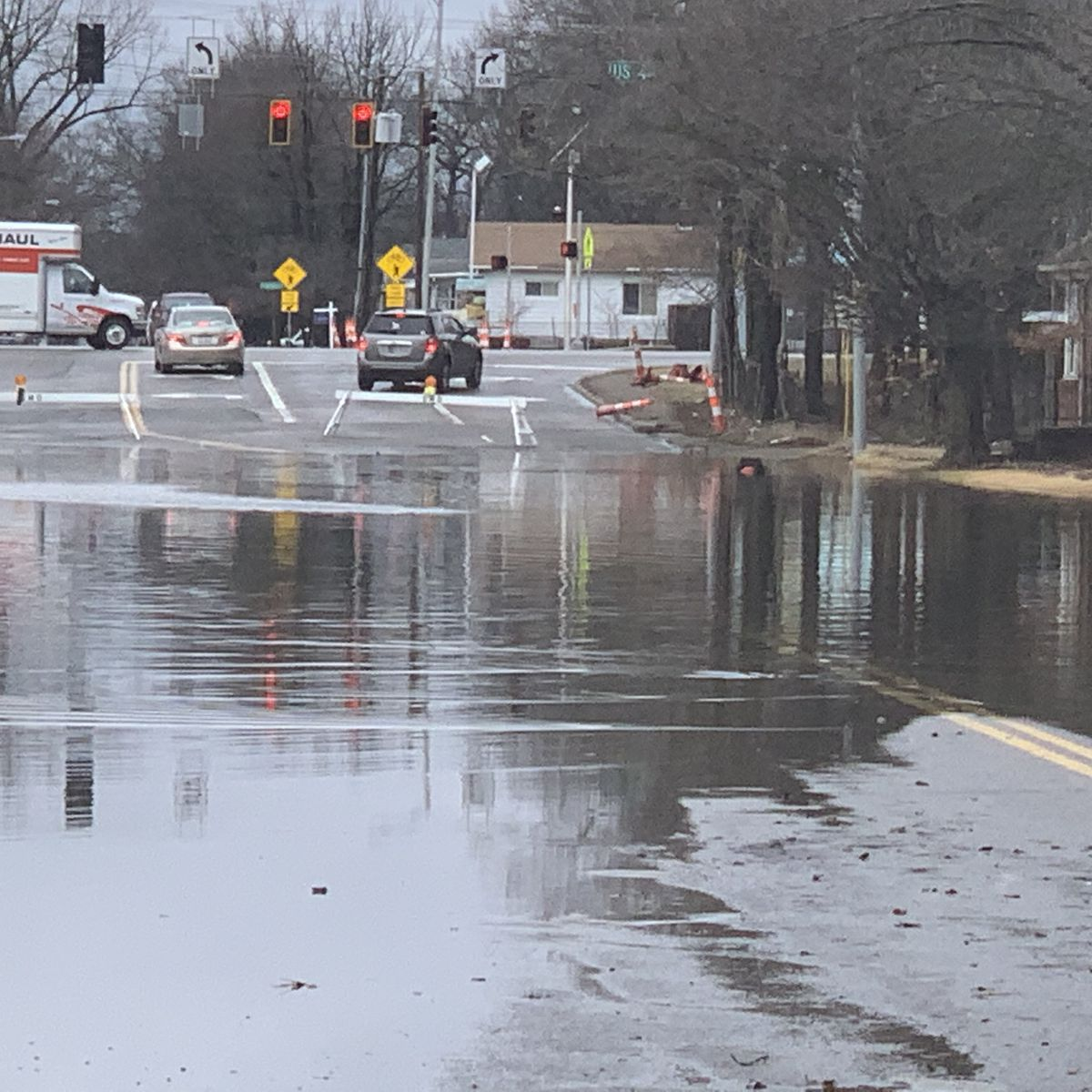 Evansville streets left flooded due to heavy rain
