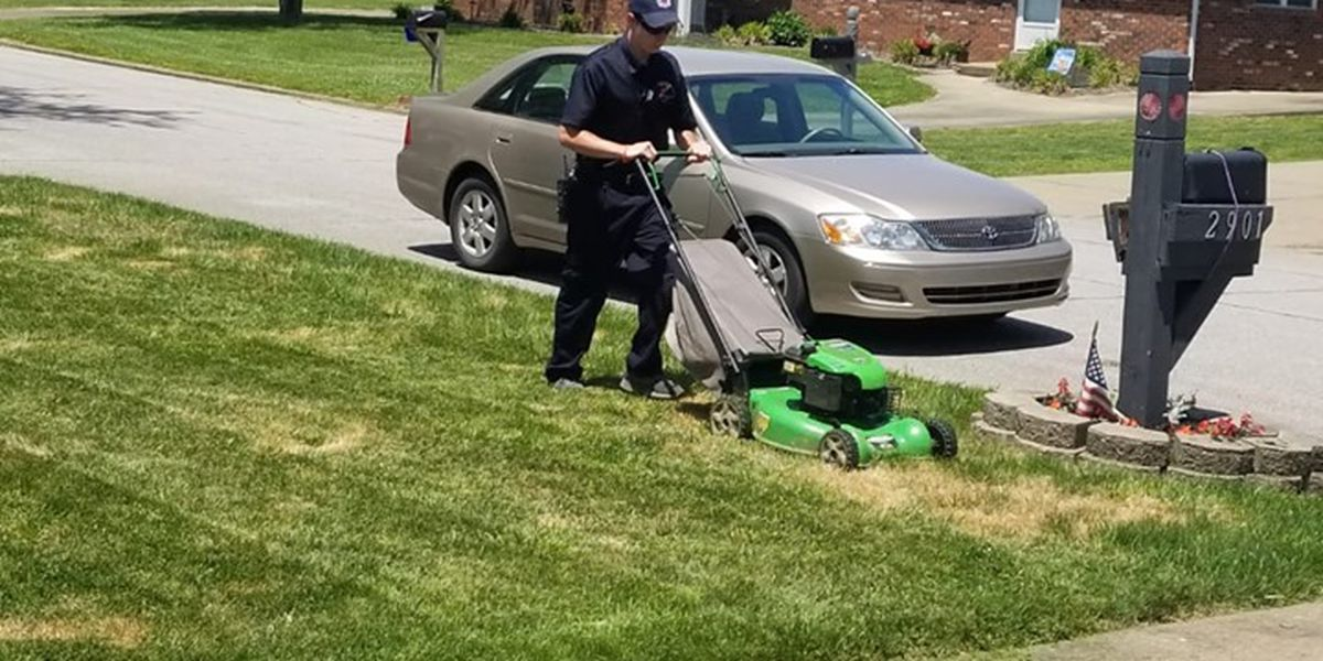 Firefighter finishes mowing patient's lawn after medical emergency call