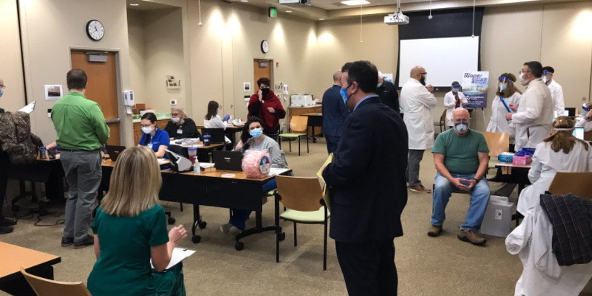 Healthcare workers at Owensboro Health receive COVID-19 vaccine