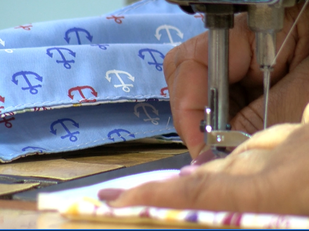 Anchor Industries employees make masks to donate to community