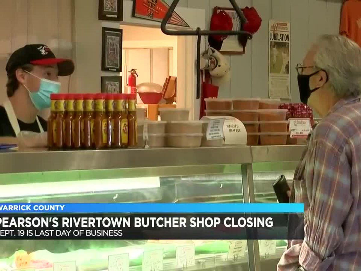 Pearson's Rivertown Butcher Shop closing in Sept.