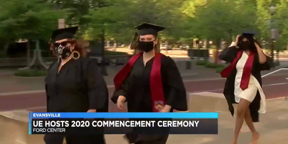 UE students celebrate in person at 2020 commencement ceremony