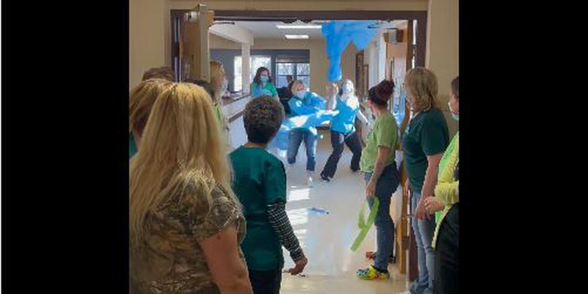Evansville nursing home celebrates closing COVID-19 unit