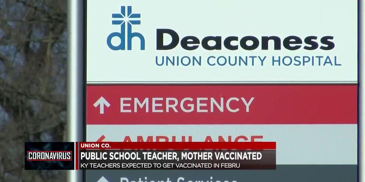 Union Co. teacher gets COVID-19 vaccine alongside 82-year-old mother