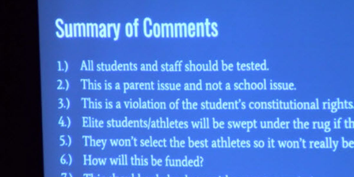 School board approves random drug testing policy for some students