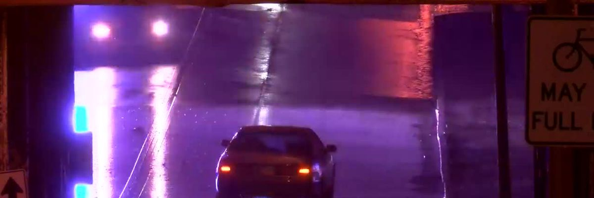 Several Tri-State roads flooded Thurs. morning.