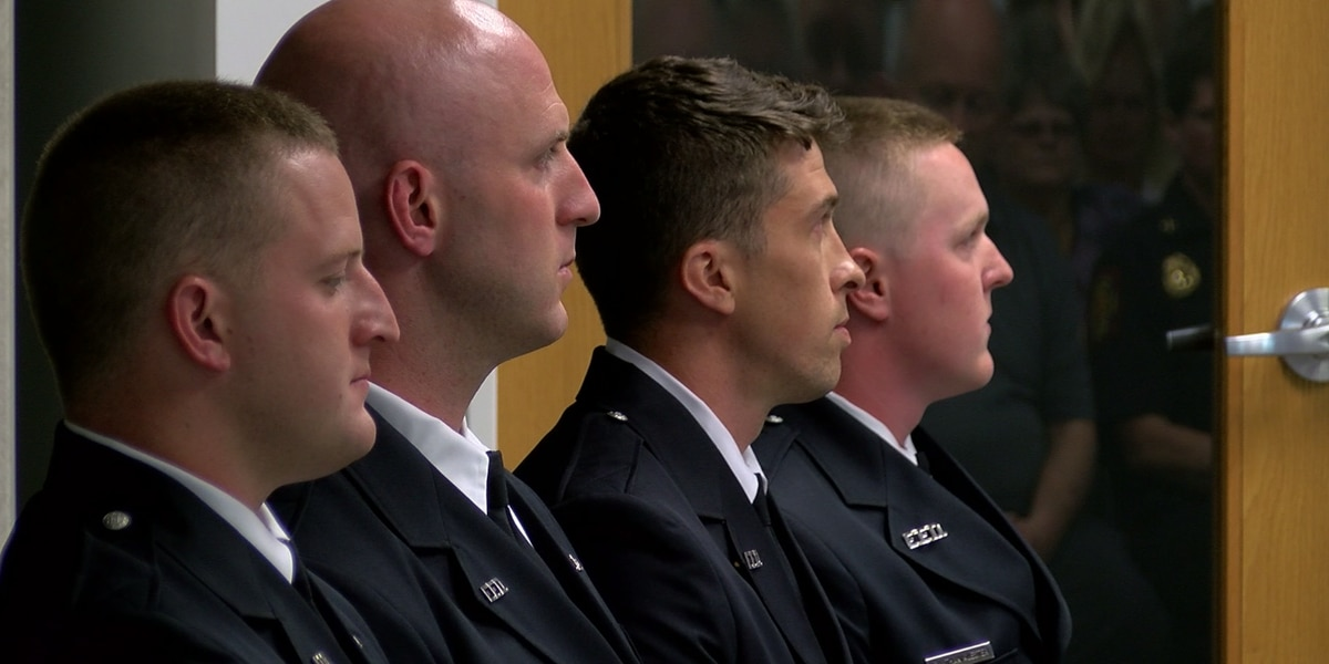 Recruits become firefighters during graduation