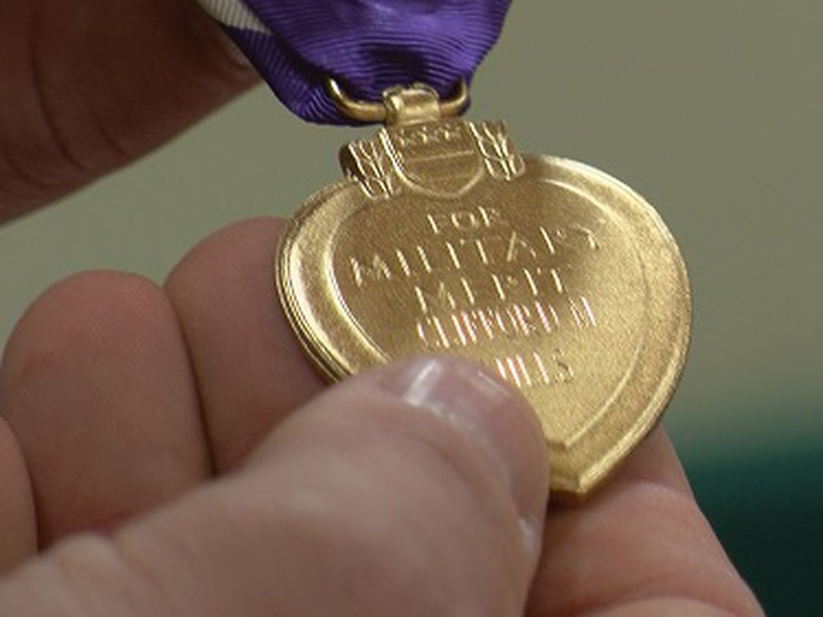 WWII Veterans receives purple heart posthumously