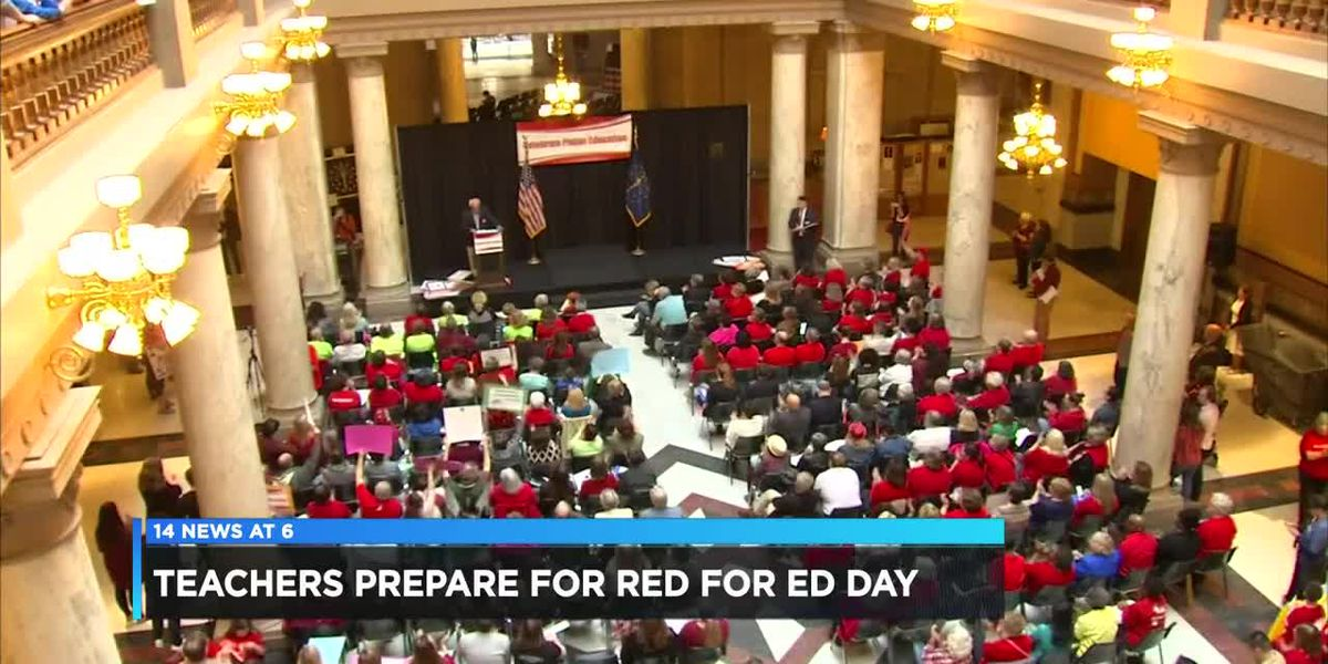 Hundreds of Evansville teachers prepare for Red for Ed Action Day
