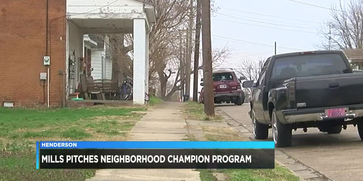 Sen. Mills Pitches neighborhood champion program in Henderson