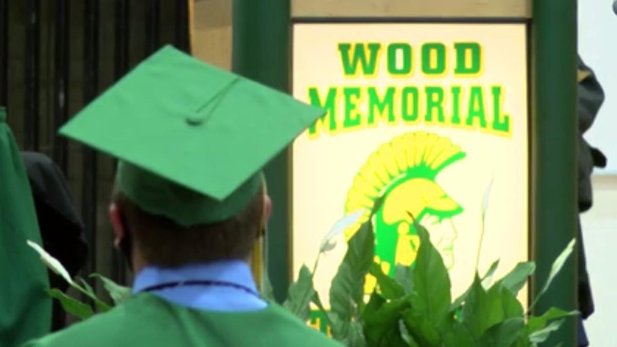 Wood Memorial High School holds socially distanced graduation ceremony