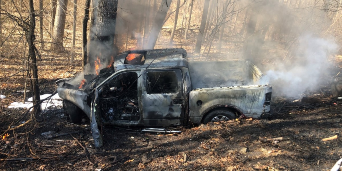 Sheriff's Office: Truck catches fire after driver hits tree in Dubois Co.