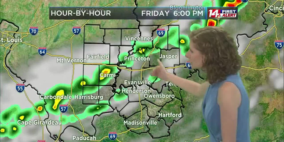 Hot Thursday, Alert Day for storms Friday